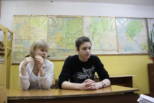 Десятиклассники Дмитрий и Виктория.